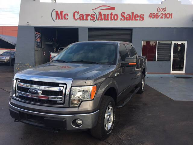 2013 FORD F-150 XLT 4X4 4DR SUPERCREW STYLESIDE gray pickup bed light pickup bed type - stylesid