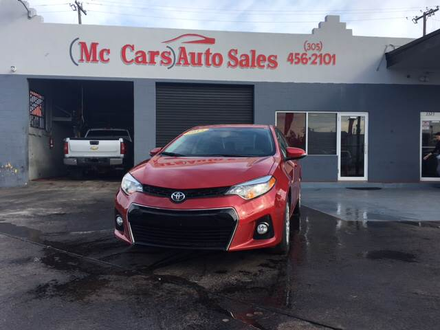 2015 TOYOTA COROLLA S 4DR SEDAN red door handle color - body-color exhaust tip color - chrome f