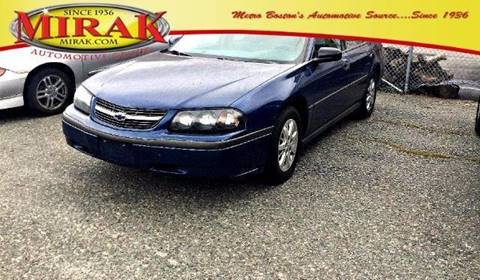 2004 Chevrolet Impala for sale at Mirak Hyundai in Arlington MA