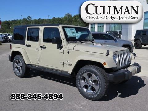 2017 Jeep Wrangler Unlimited for sale in Cullman, AL