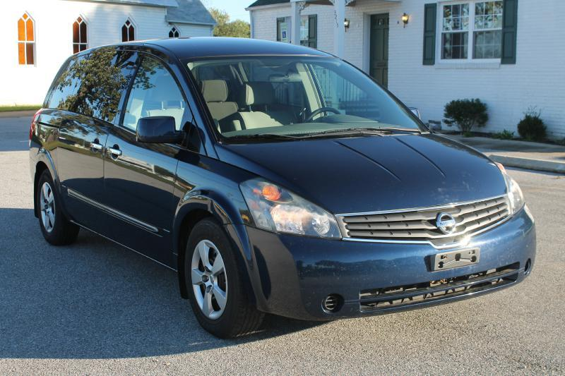 2009 NISSAN QUEST S blue air conditioning power windows power locks power steering tilt wheel