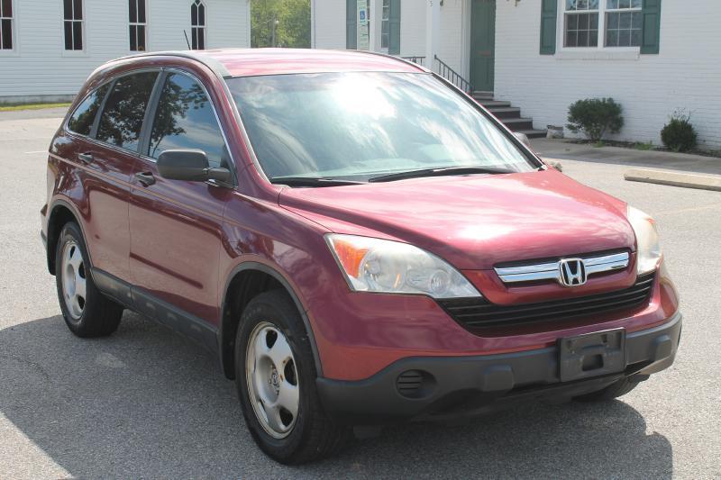 2007 HONDA CR-V LX AWD 4DR SUV red air conditioning power windows power locks power steering