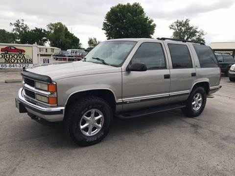 1999 Chevrolet Tahoe for sale at Cordova Motors in Lawrence KS
