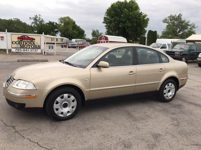 2002 Volkswagen Passat for sale at Cordova Motors in Lawrence KS