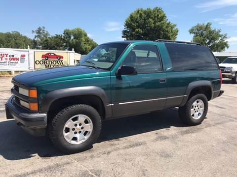 1998 Chevrolet Tahoe for sale at Cordova Motors in Lawrence KS