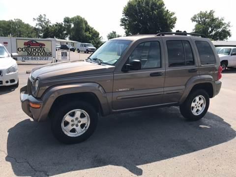 2002 Jeep Liberty for sale at Cordova Motors in Lawrence KS