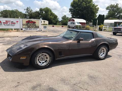 1980 Chevrolet Corvette for sale at Cordova Motors in Lawrence KS
