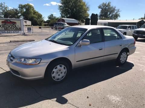 1999 Honda Accord for sale at Cordova Motors in Lawrence KS