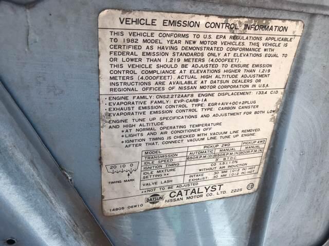 1982 Datsun Pickup 2dr DLX 4WD Extended Cab SB - Lawrence KS