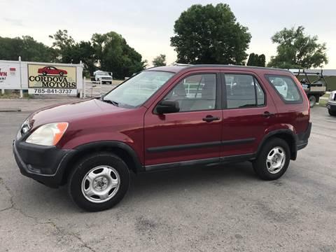 2002 Honda CR-V for sale at Cordova Motors in Lawrence KS