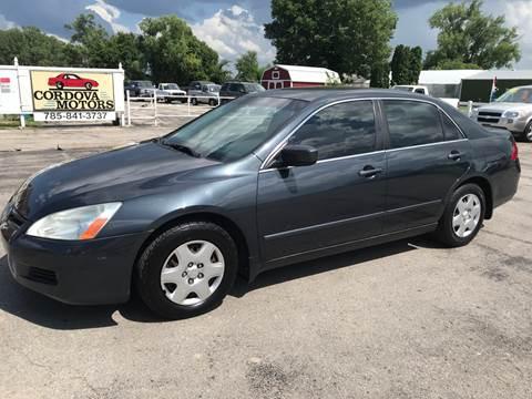 2007 Honda Accord for sale at Cordova Motors in Lawrence KS