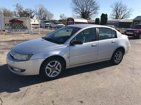 2003 Saturn Ion for sale at Cordova Motors in Lawrence KS