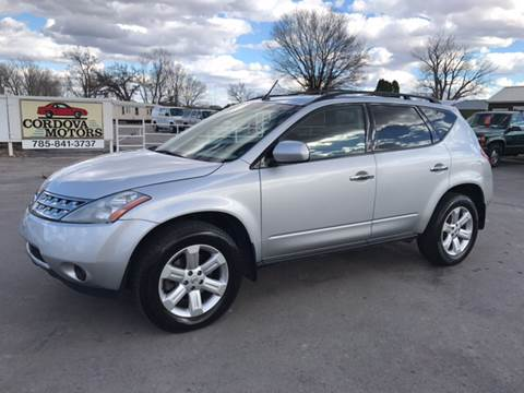 2006 Nissan Murano for sale at Cordova Motors in Lawrence KS