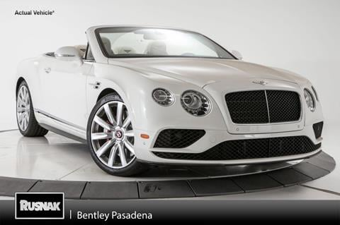 2017 Bentley Continental GTC V8 S for sale in Pasadena, CA