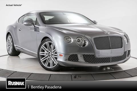 2013 Bentley Continental GT Speed for sale in Pasadena, CA