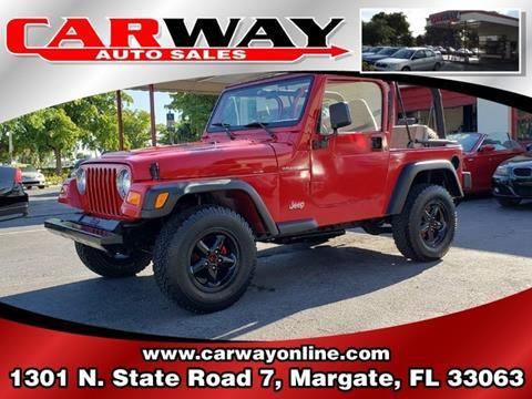 1999 Jeep Wrangler for sale in Margate, FL