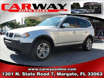 2004 BMW X3 for sale in Margate, FL