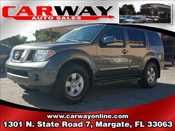 2006 Nissan Pathfinder for sale in Margate, FL