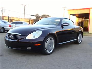 2002 Lexus SC 430 for sale at 123 Car 2 Go LLC in Dallas TX