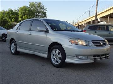 2003 Toyota Corolla for sale at 123 Car 2 Go LLC in Dallas TX