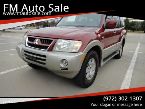 2003 Mitsubishi Montero for sale at F.M Auto Sale LLC in Dallas TX