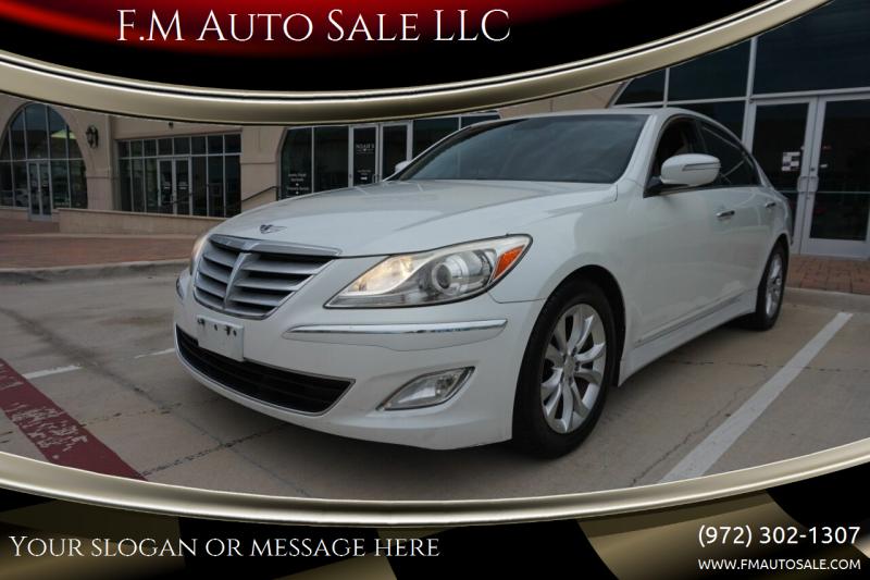 2013 Hyundai Genesis for sale at F.M Auto Sale LLC in Dallas TX