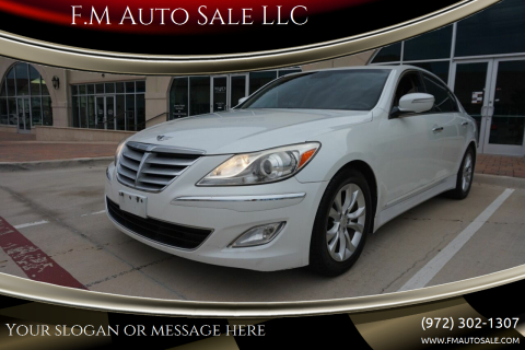 2013 Hyundai Genesis for sale at F.M Auto Sale LLC in Dallas TX