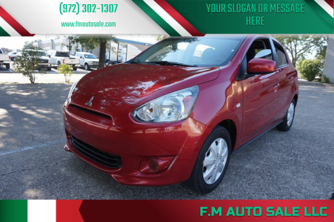 2015 Mitsubishi Mirage for sale at F.M Auto Sale LLC in Dallas TX