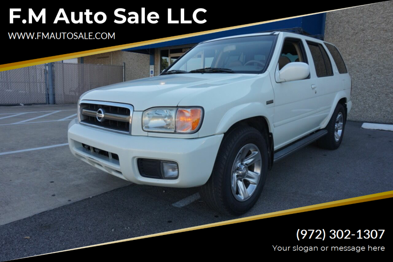 2004 Nissan Pathfinder for sale at F.M Auto Sale LLC in Dallas TX
