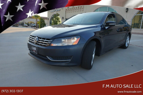 2012 Volkswagen Passat for sale at F.M Auto Sale LLC in Dallas TX