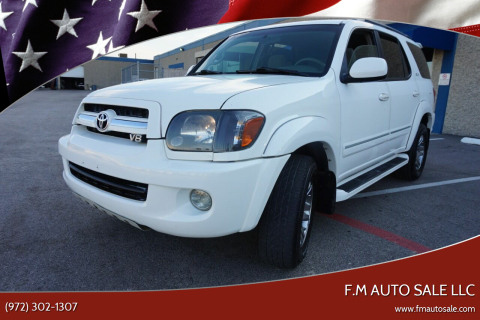 2006 Toyota Sequoia for sale at F.M Auto Sale LLC in Dallas TX