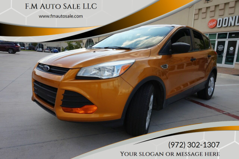 2016 Ford Escape for sale at F.M Auto Sale LLC in Dallas TX