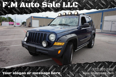 2006 Jeep Liberty for sale at F.M Auto Sale LLC in Dallas TX