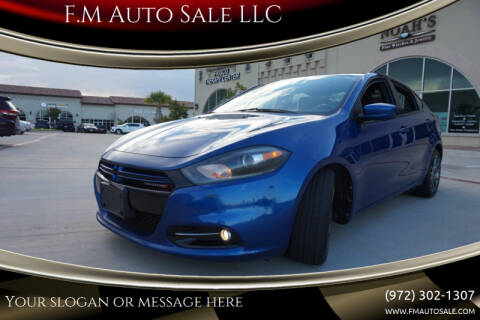 2013 Dodge Dart for sale at F.M Auto Sale LLC in Dallas TX
