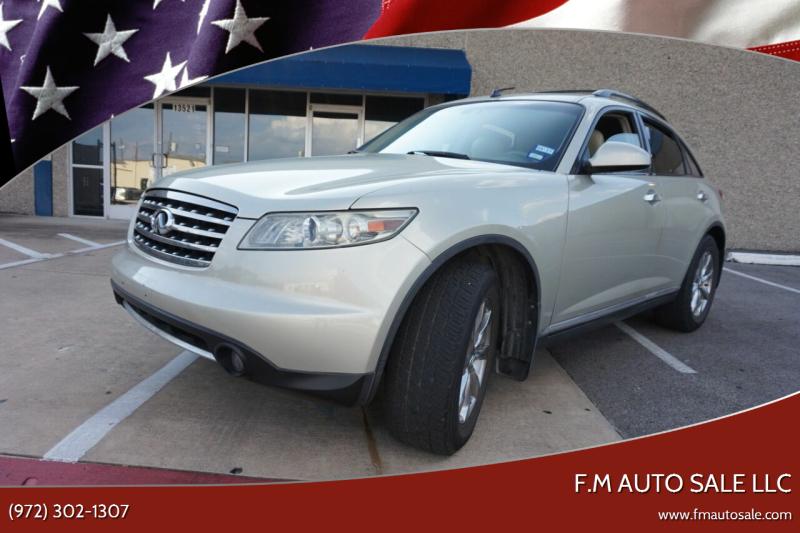 2008 Infiniti FX35 for sale at F.M Auto Sale LLC in Dallas TX