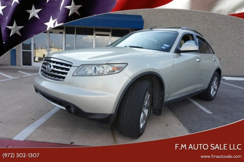 2008 Infiniti FX35 for sale at F.M Auto Sale LLC in Dallas TX