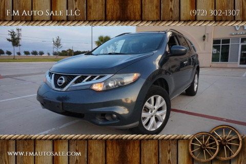 2011 Nissan Murano for sale at F.M Auto Sale LLC in Dallas TX