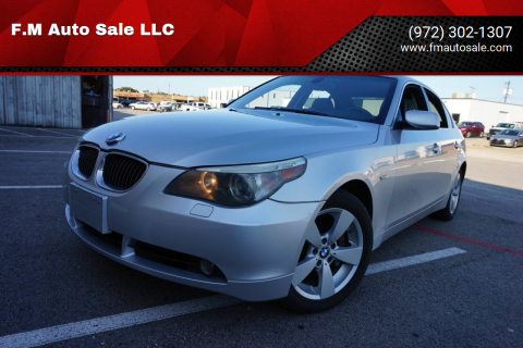 2007 BMW 5 Series for sale at F.M Auto Sale LLC in Dallas TX