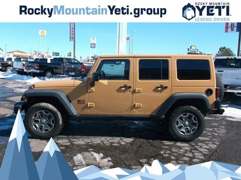 2014 Jeep Wrangler Unlimited for sale in Evanston, WY