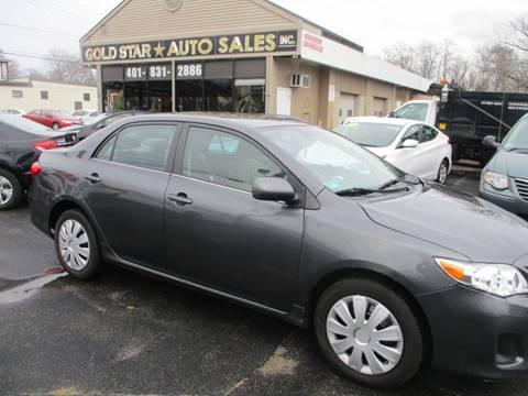 2013 Toyota Corolla LE for sale at Gold Star Auto Sales in Johnston RI