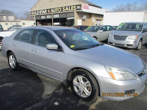 2007 Honda Accord Special Edition for sale at Gold Star Auto Sales in Johnston RI