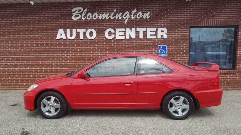 2005 Honda Civic EX 2dr Coupe W/Front Side Airbags   Bloomington IN