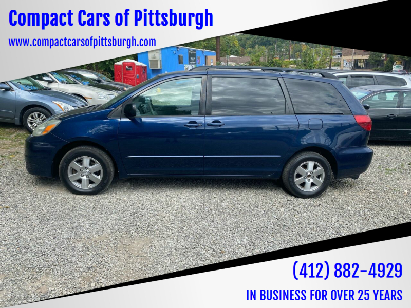 2004 Toyota Sienna for sale at Compact Cars of Pittsburgh in Pittsburgh PA