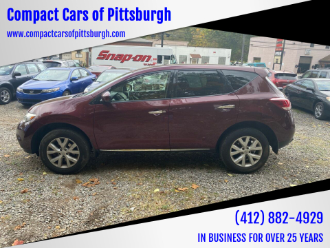 2012 Nissan Murano for sale at Compact Cars of Pittsburgh in Pittsburgh PA