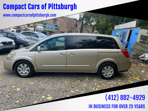 2004 Nissan Quest for sale at Compact Cars of Pittsburgh in Pittsburgh PA