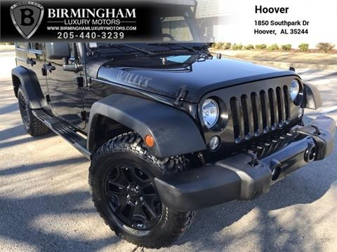 2016 Jeep Wrangler Unlimited for sale in Birmingham, AL