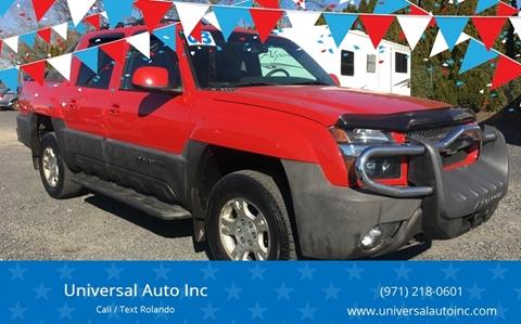2003 Chevrolet Avalanche for sale at MyEstablishedCredit.com in Salem OR