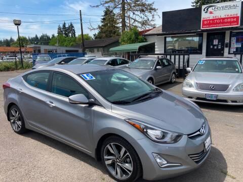 2015 Hyundai Elantra for sale at MyEstablishedCredit.com in Salem OR