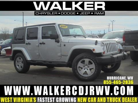 2007 Jeep Wrangler Unlimited for sale in Hurricane, WV