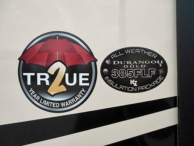 2019 KZ Durango Gold G385FLF Luxury Fifth Wheel - 41 Ft. - 5 Slides - Fr. Liv. - Rockville IN